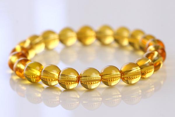 ★最高級5A★宝石質シトリンブレスレット★黄水晶★8.5-9mm★ラスト1本
