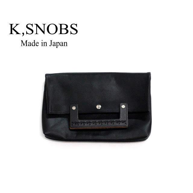 Handle Clutch S | ハンドル クラッチバッグ レザー 2WAY B5 【K,SNOBS ケースノッブ】