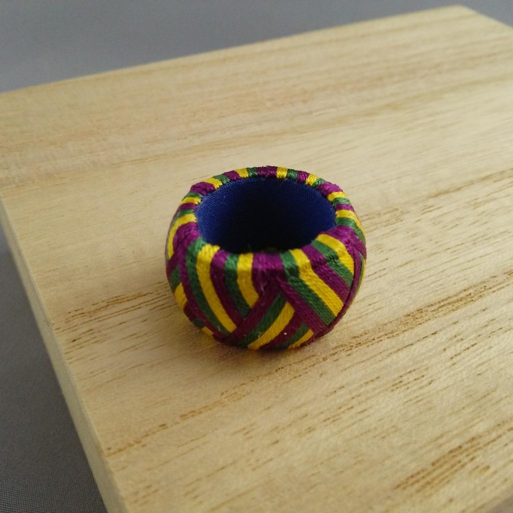 加賀ゆびぬき・矢鱈縞(紫と緑と黄色)