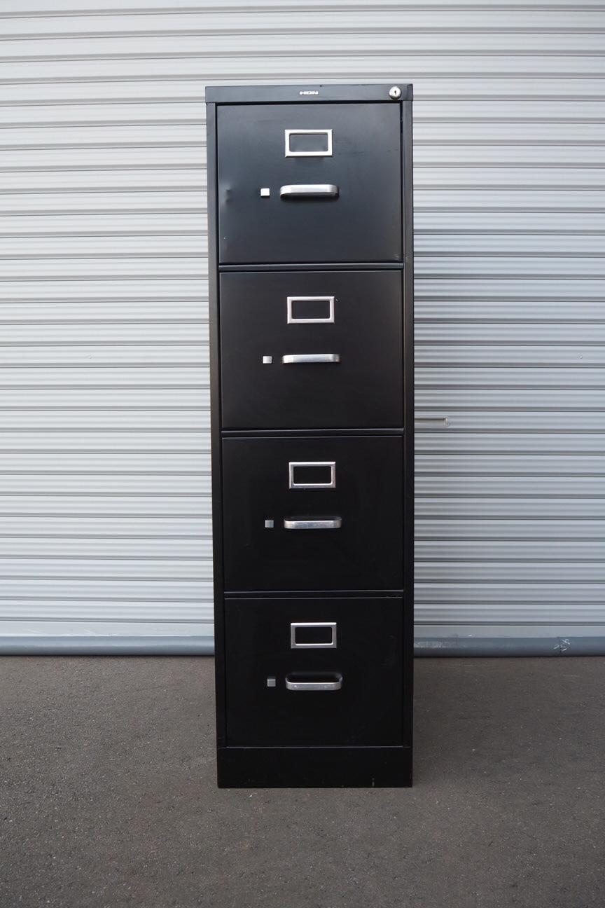 品番0493 ファイルキャビネット ブラック