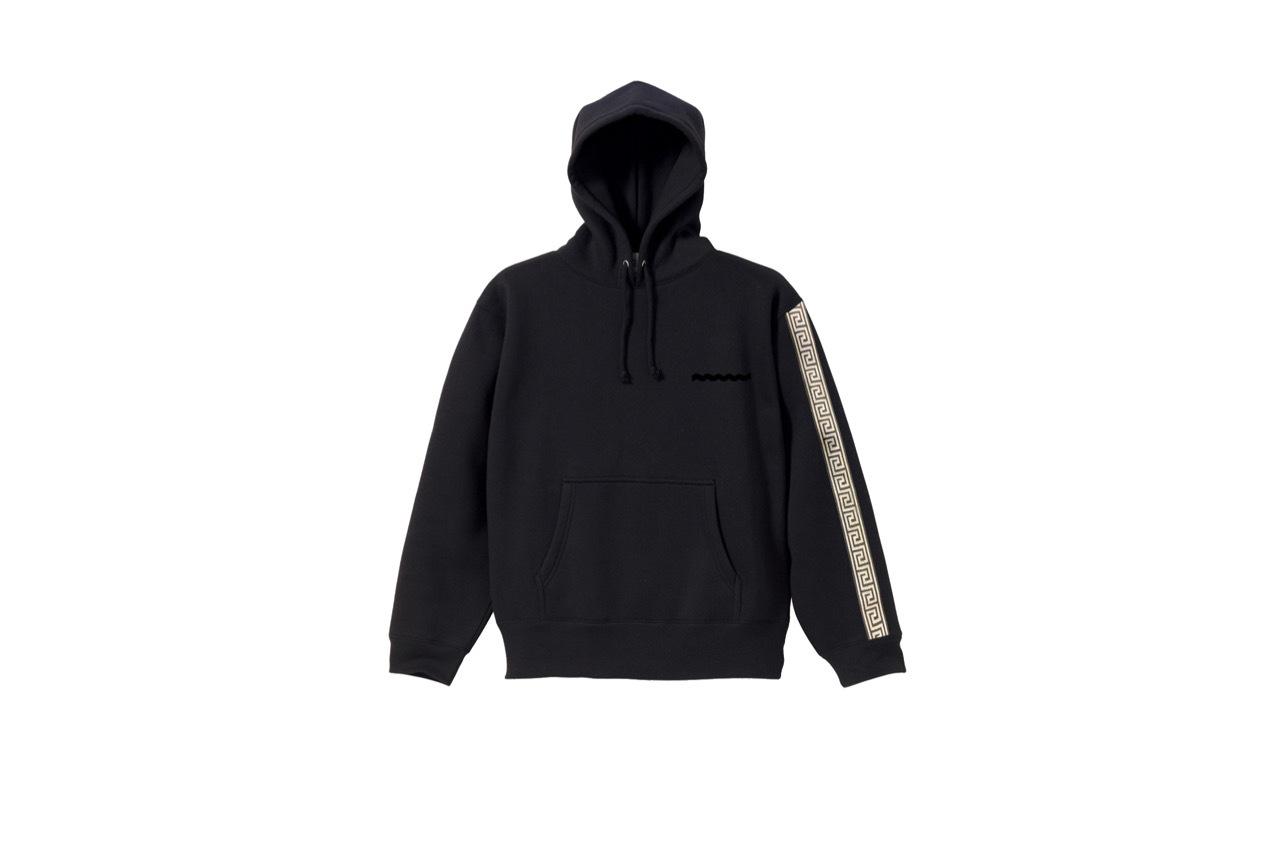 coguchi Clogo long line hoodie (BLK)