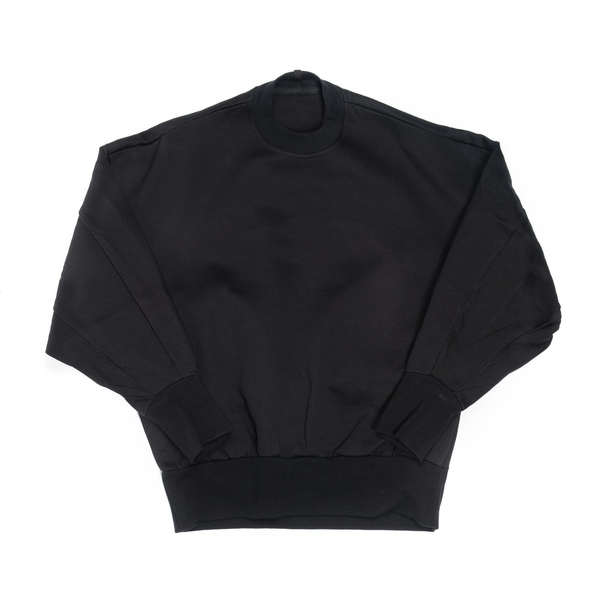 657CUM2-BLACK / バックストラップ スウェットシャツ