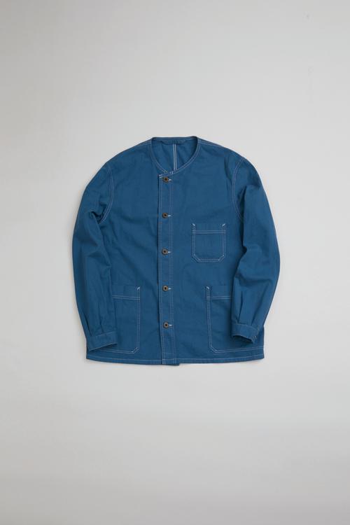 フレンチワークノーカラーシャツ / FRENCH WORK NO COLLAR SHIRT