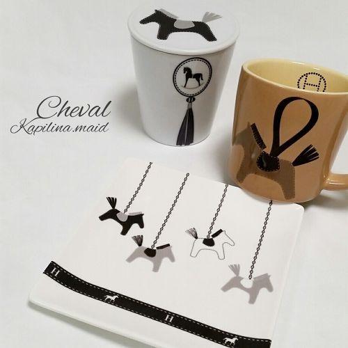 Cheval転写紙 A3サイズ(ポーセリンアート用転写紙 馬・エルメス風)
