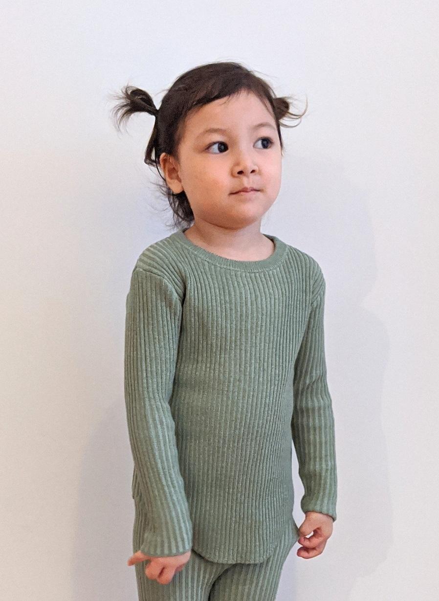 Kids Tight Fit Pullover - Mint Green