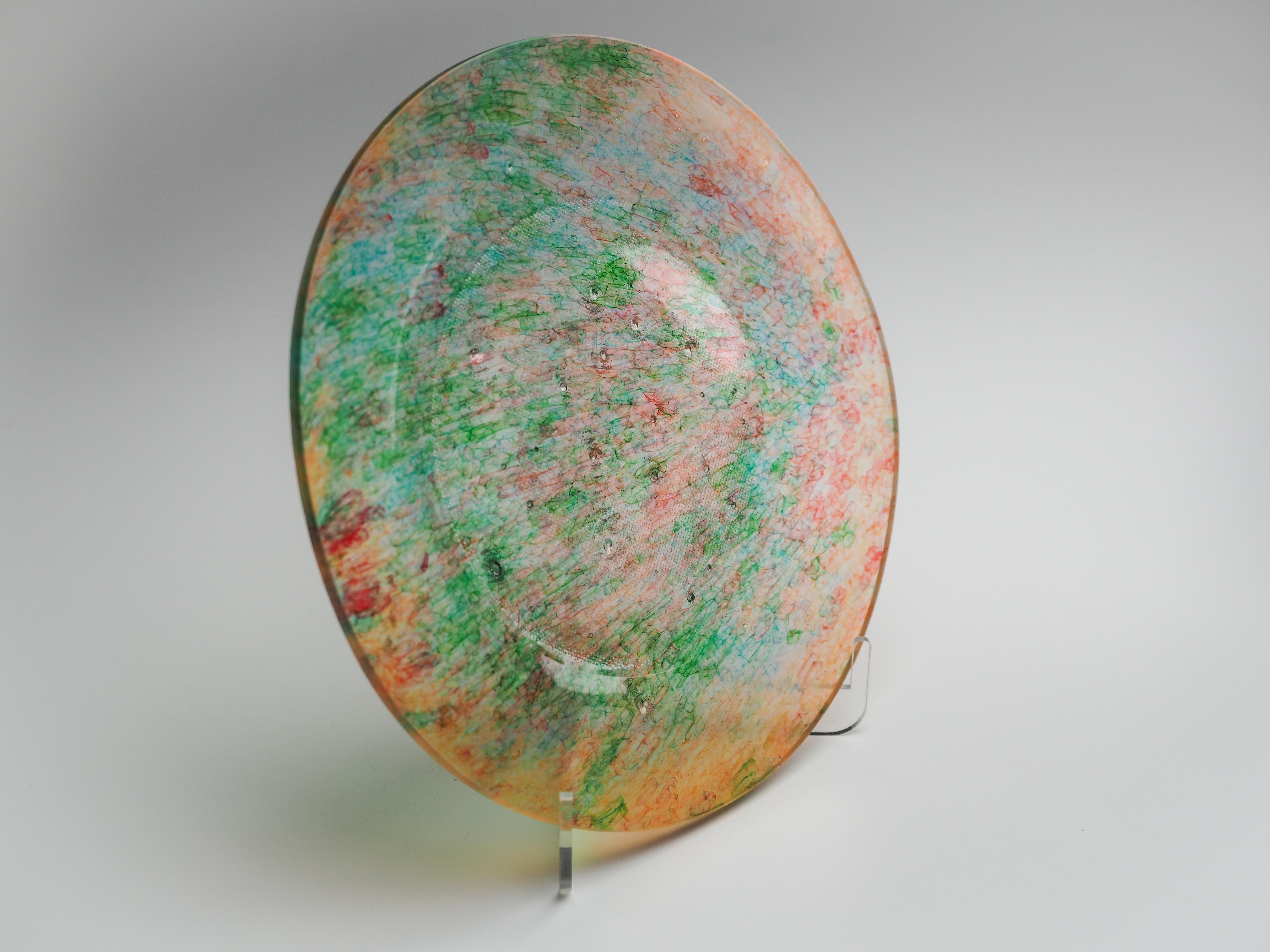 平皿-CL(オレンジ×緑)fp-cl-8