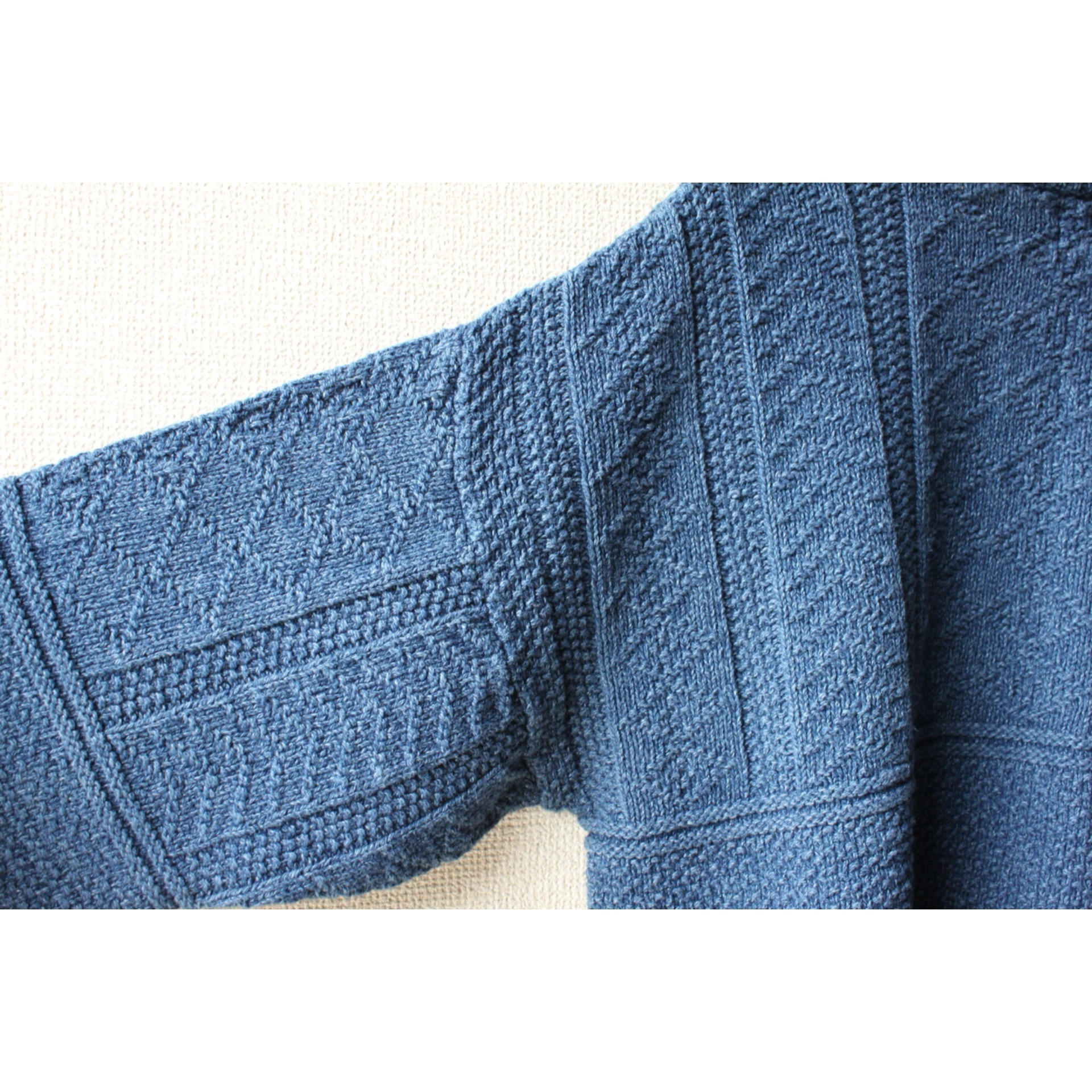 Vintage indigo cotton sweater by Eddie Bauer