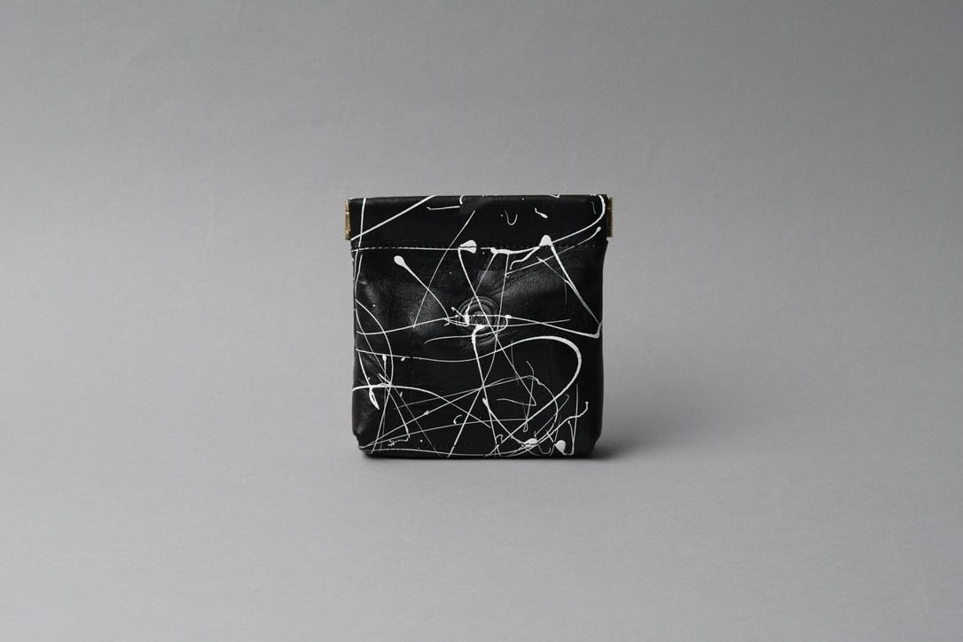 送料無料・ギフトラッピング(ギフト箱)無料○ ワンタッチ・コインケース ■drip type ブラック・ホワイト■ - 画像2