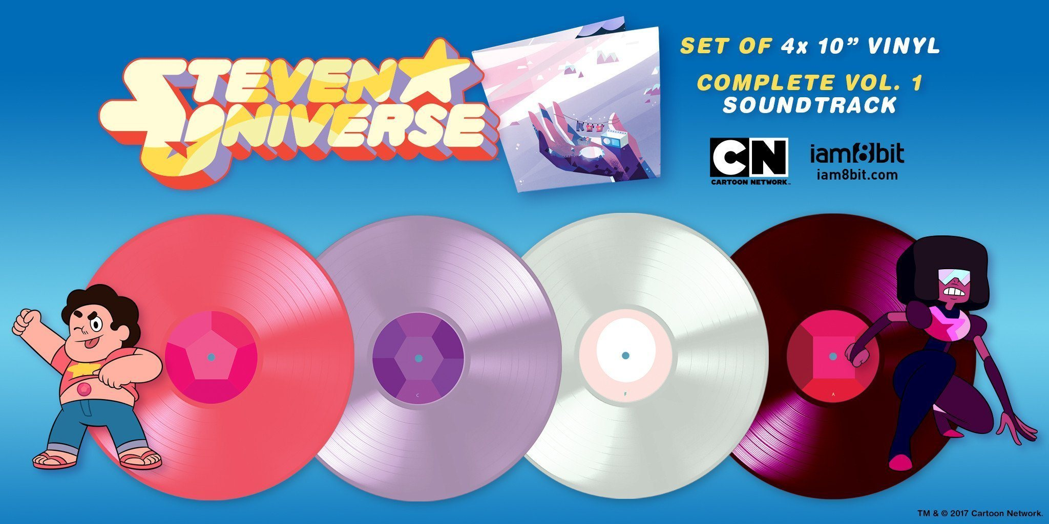 【Steven Universe(スティーブン・ユニバース)】10インチレコード4枚組 - 画像2