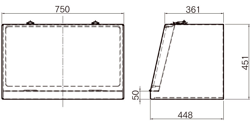 FRP工具箱【NPF-750A 黒】