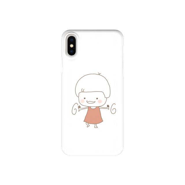 きのこさん、ぐるぐる (iPhone case)