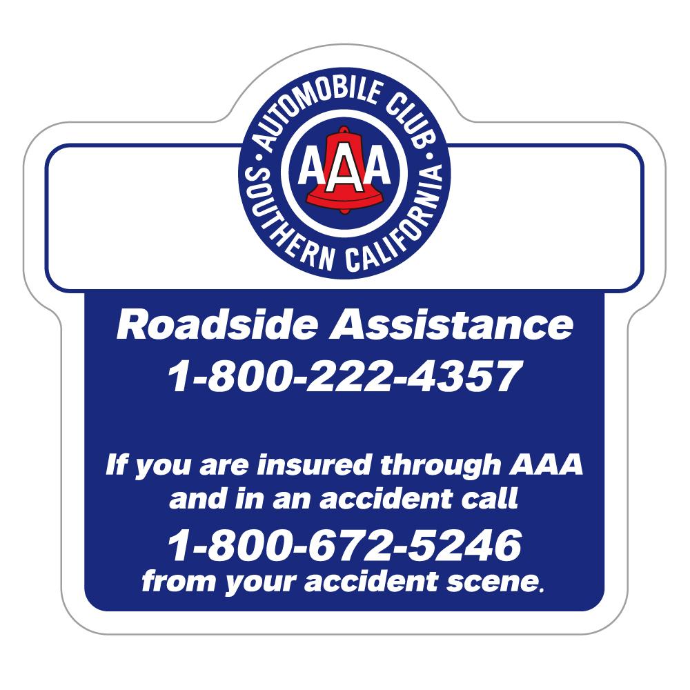 "127 AAA ROADESIDE ASSISTANCE ""California Market Center"" アメリカンステッカー スーツケース シール"