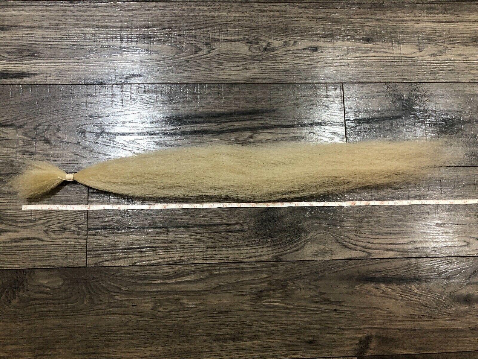 ヤクの毛 白 約71cm(28 inch)