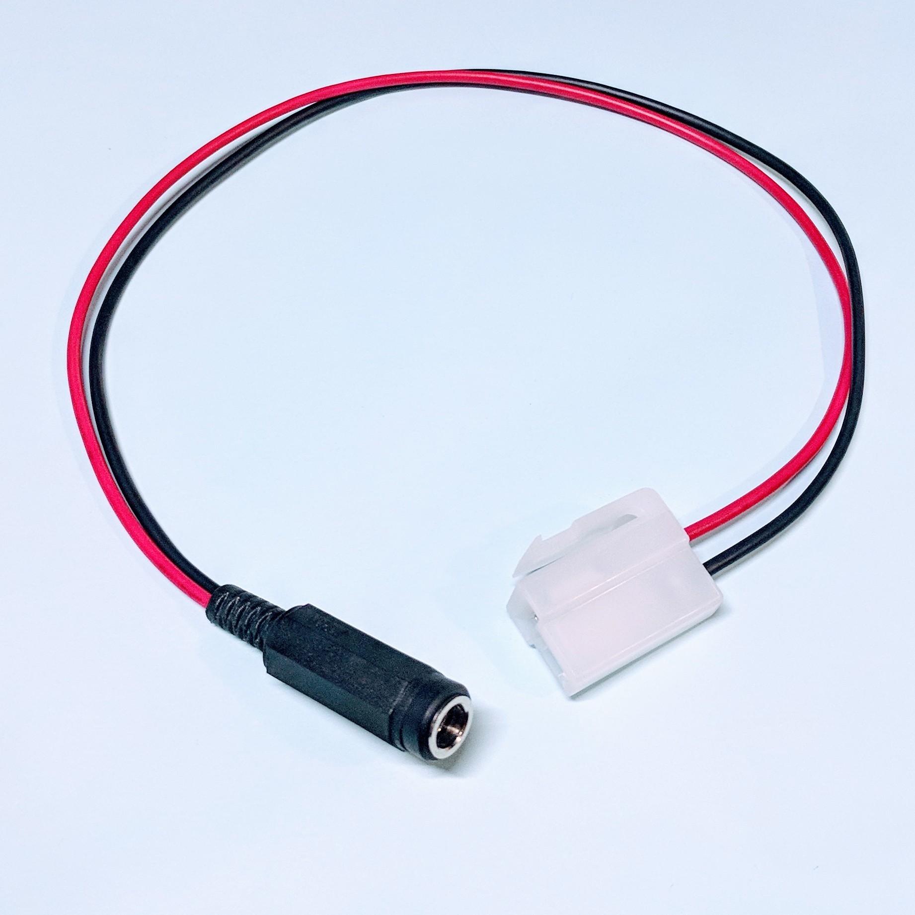 電源変換ケーブル 2.1mm標準ジャック→250型2極カプラ