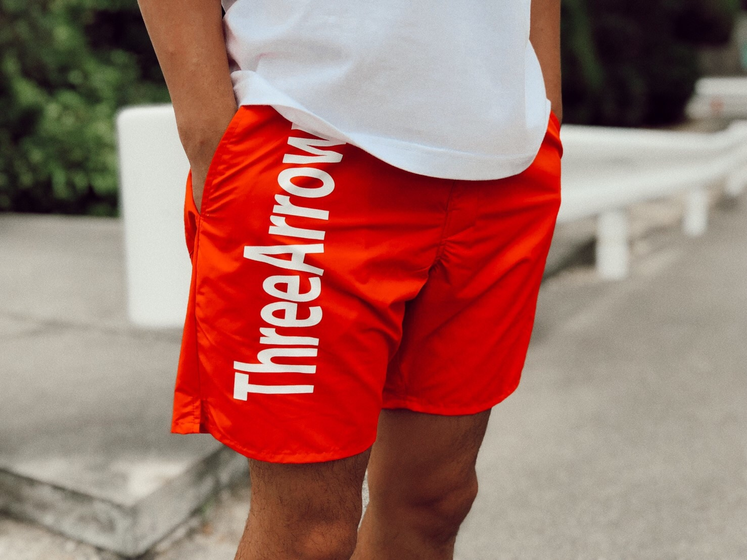 ThreeArrows logo Board Shorts(red)