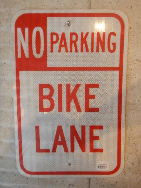 品番1373 駐車禁止 / BIKE LANE NO PARKING 011
