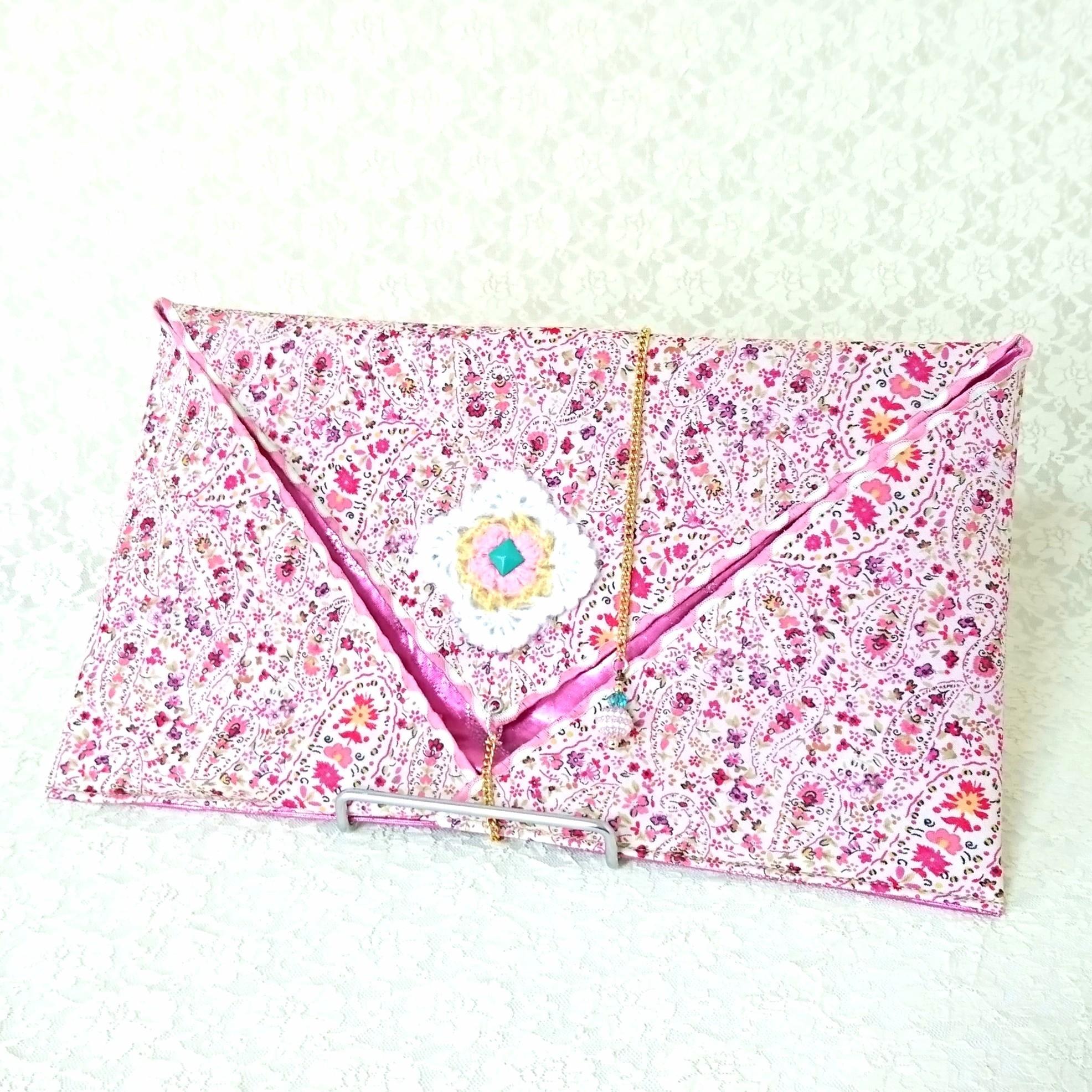 ファンベールケース【ピンクの小花柄】♪リバーシブル♪