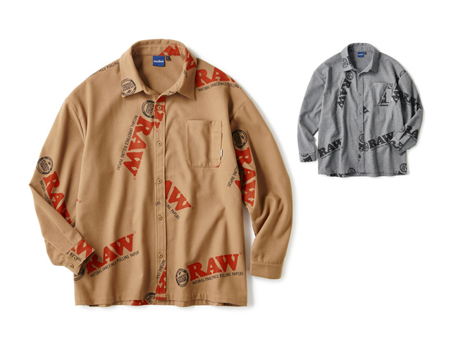 RAW × INTERBREED Logo Textile Work Shirts