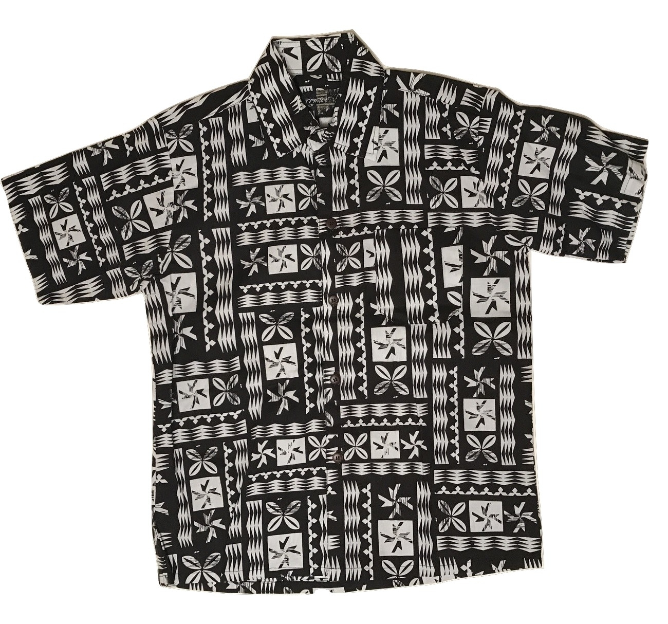Aloha Shirt White×Black【Kids】