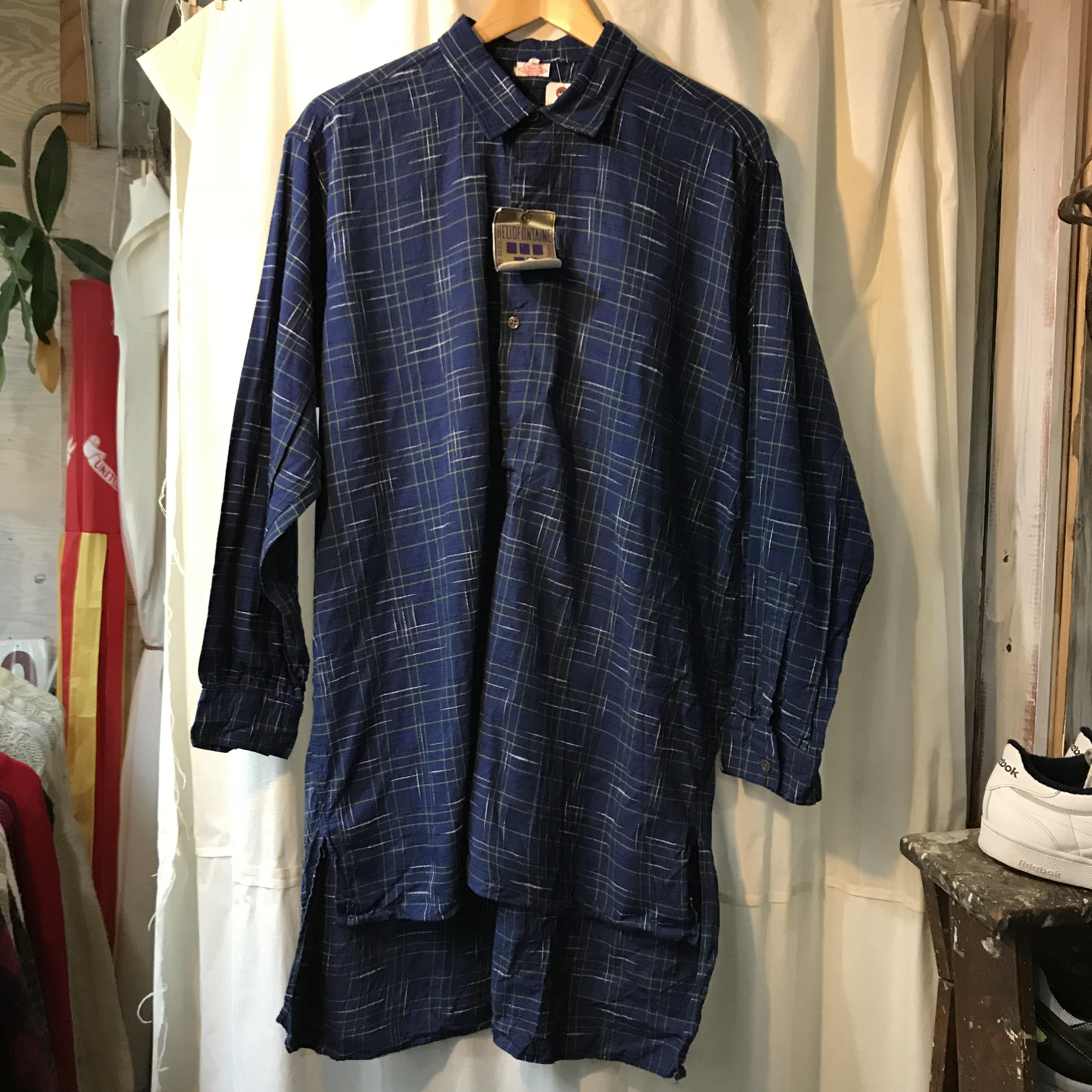 ユーロ グランドファザーシャツ デッドストック 未使用品 メンズL~XL