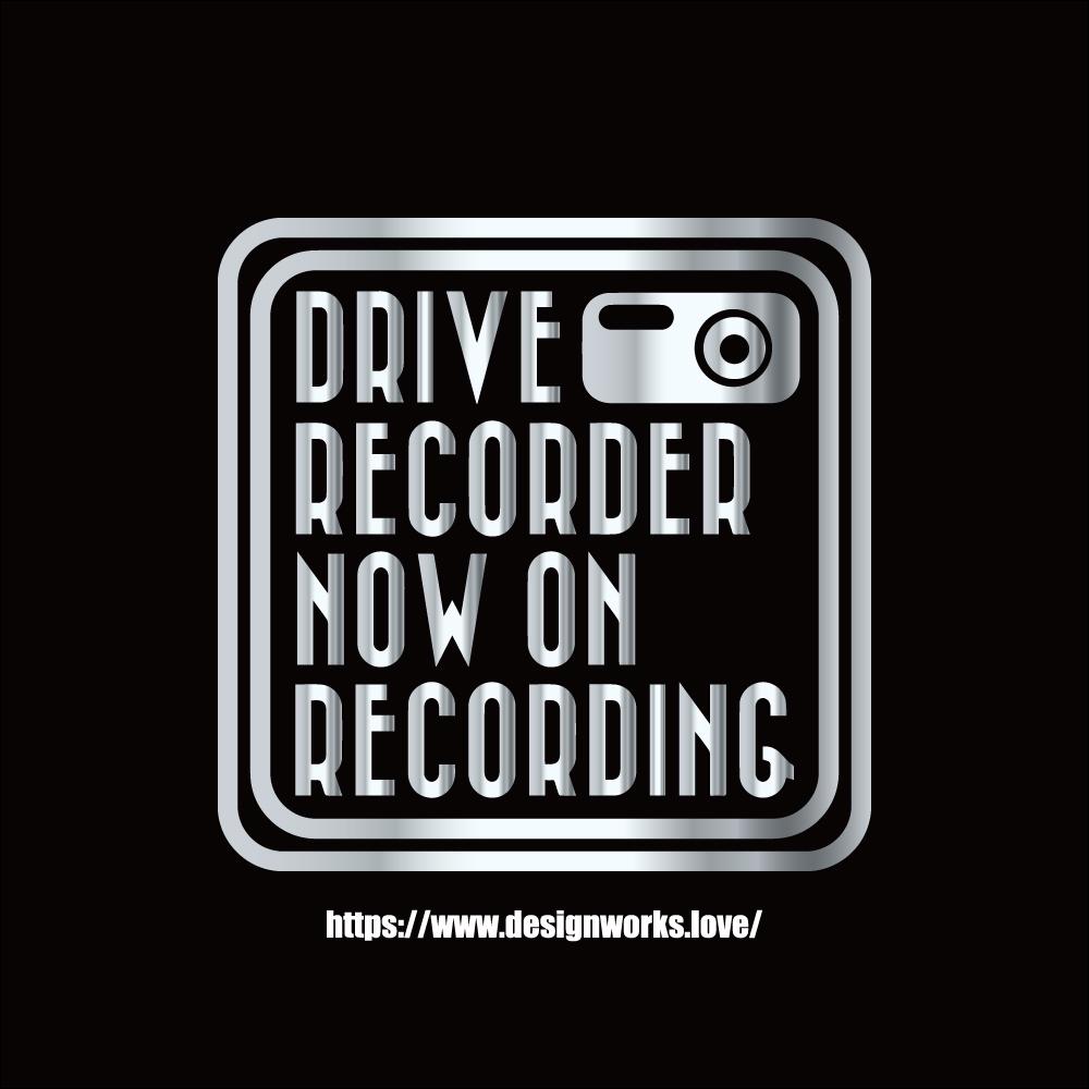 全10色 ドライブレコーダー NOW ON RECORDING CUBE ステッカー