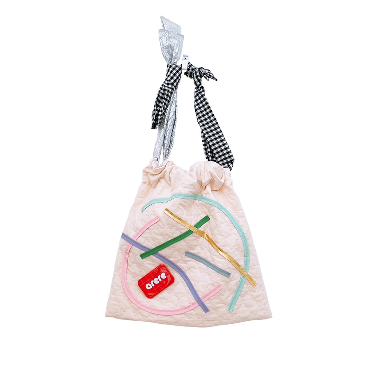arere × frankygrow / 巾着BAG - PINK