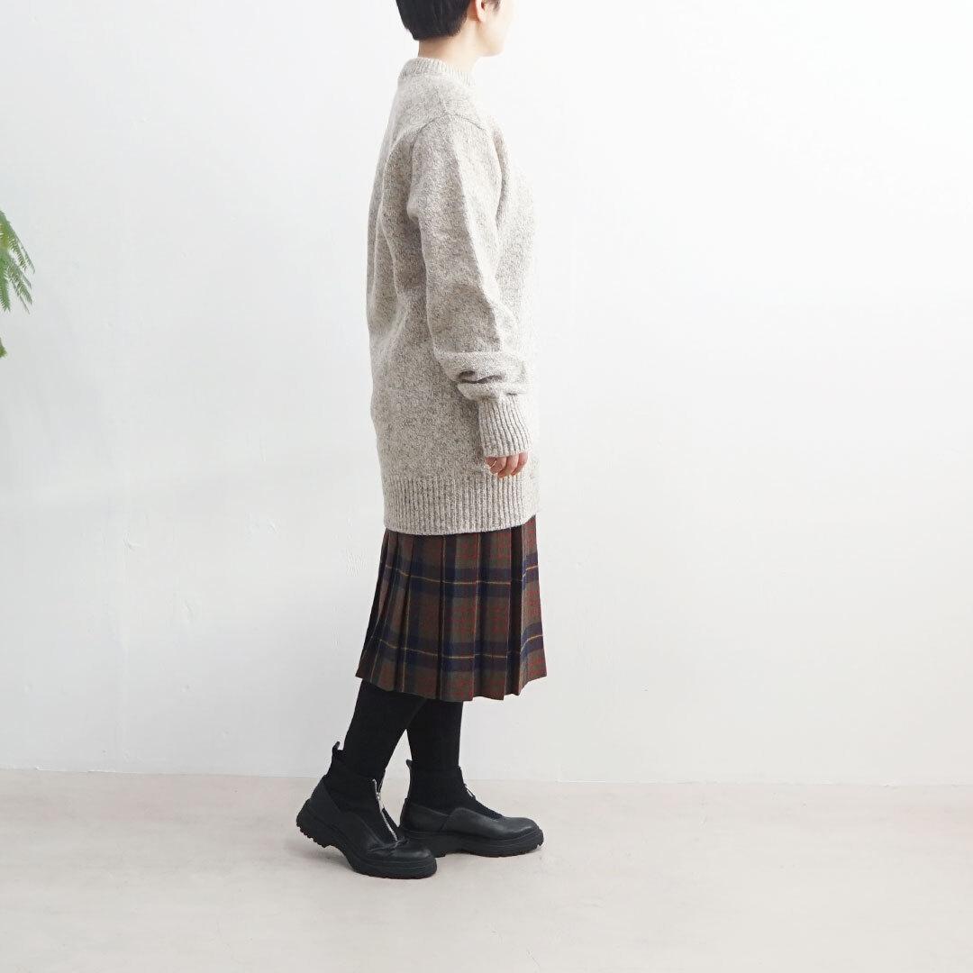 【再入荷なし】 USED 古着 スカート KHAKI×NAVY (品番used-032)