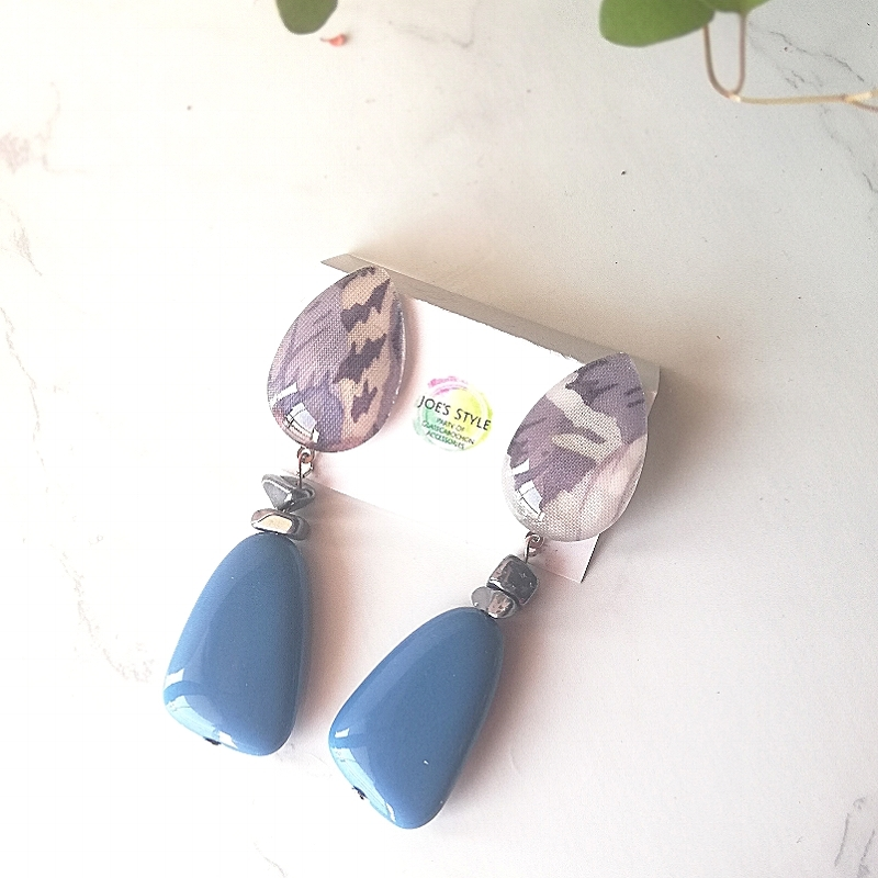 """"""" Earrings NO.0-1776″ テラヘルツとブルー"""