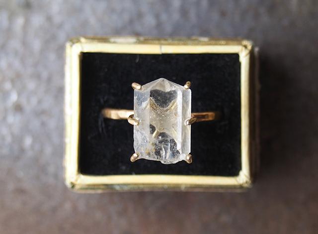 M様オーダー 原石のフェナカイトのリング・ネックレス