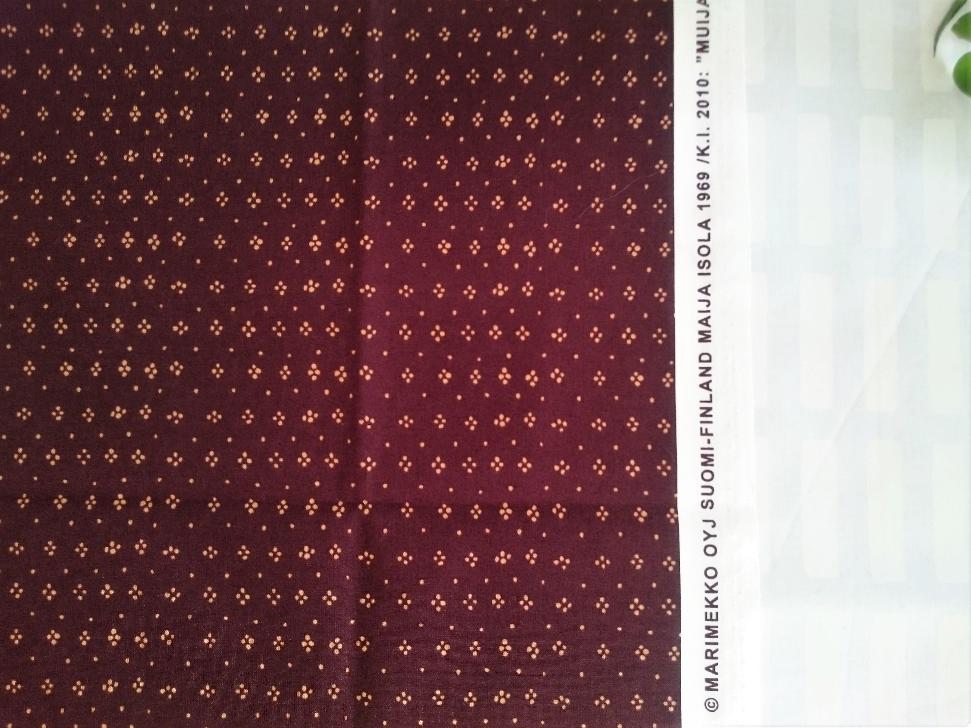 テキスタイル / マリメッコ / ムイヤ (BR) コットン (53 x 72cm)