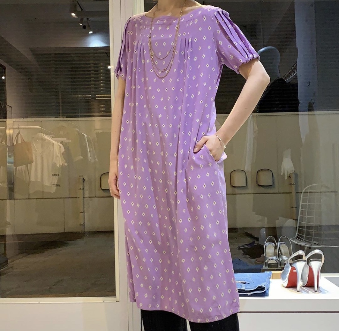 """"""" DIAN VON FURSTENBERG """" vintage silk dress"""