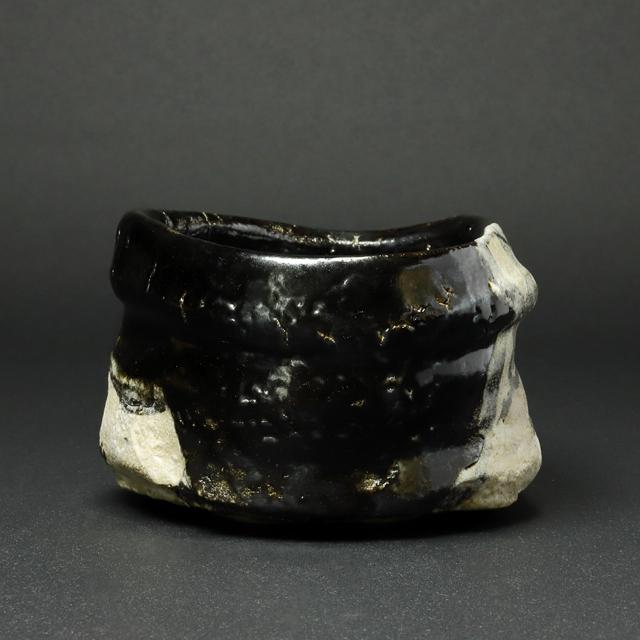鈴木五郎 作 黒織部茶碗