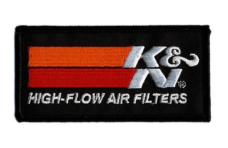 K&N・ロゴ・ワッペン・ブラック