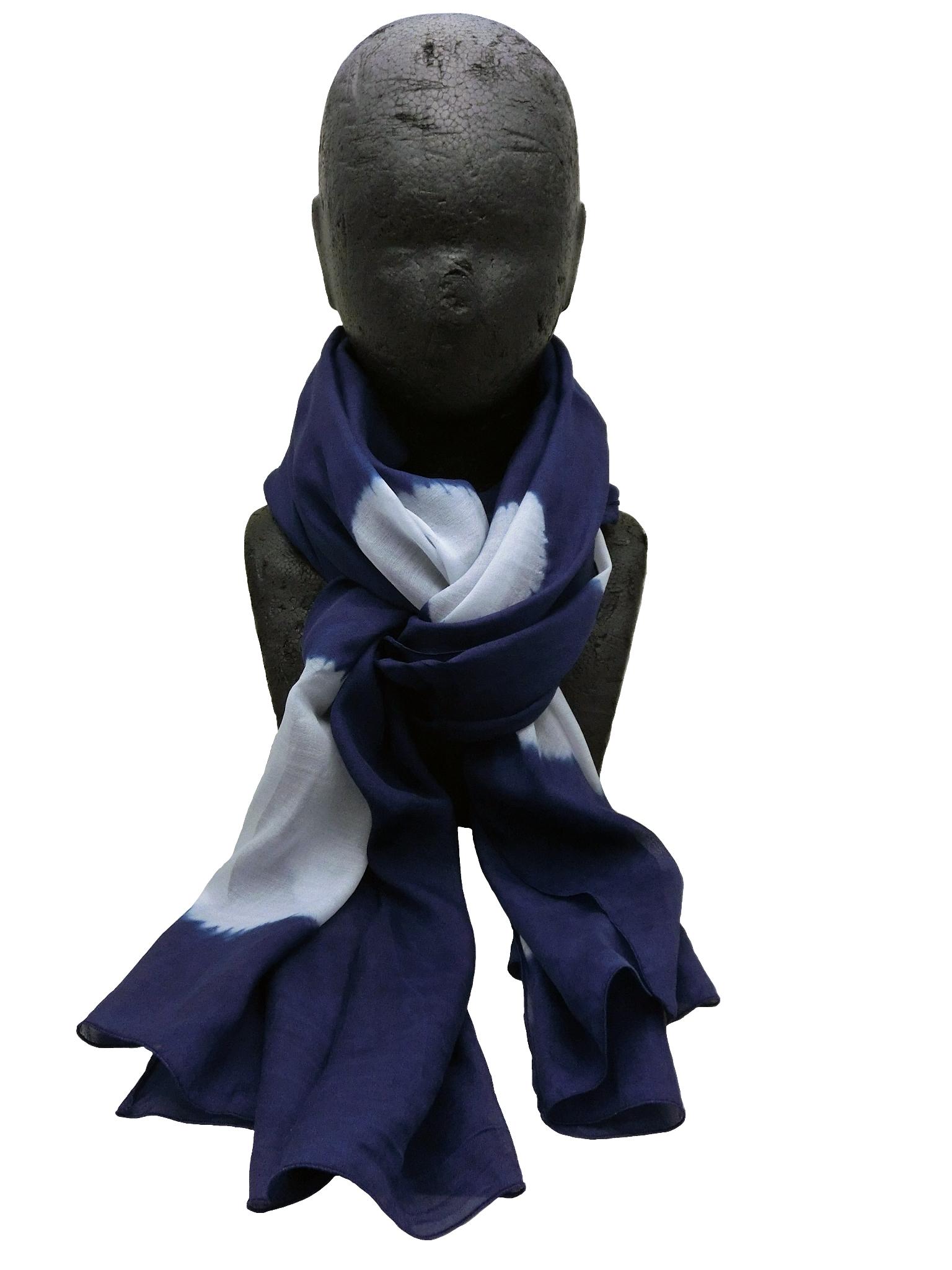 極細絹紡織り 水玉絞り