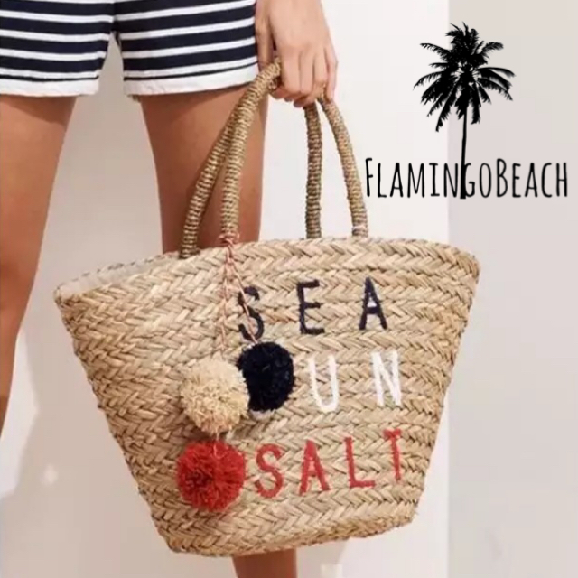 【FlamingoBeach】seasalt bag カゴバック