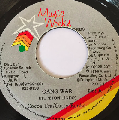 Cocoa Tea (ココティー), Cutty Ranks (カッティランクス) - Gang War【7'】