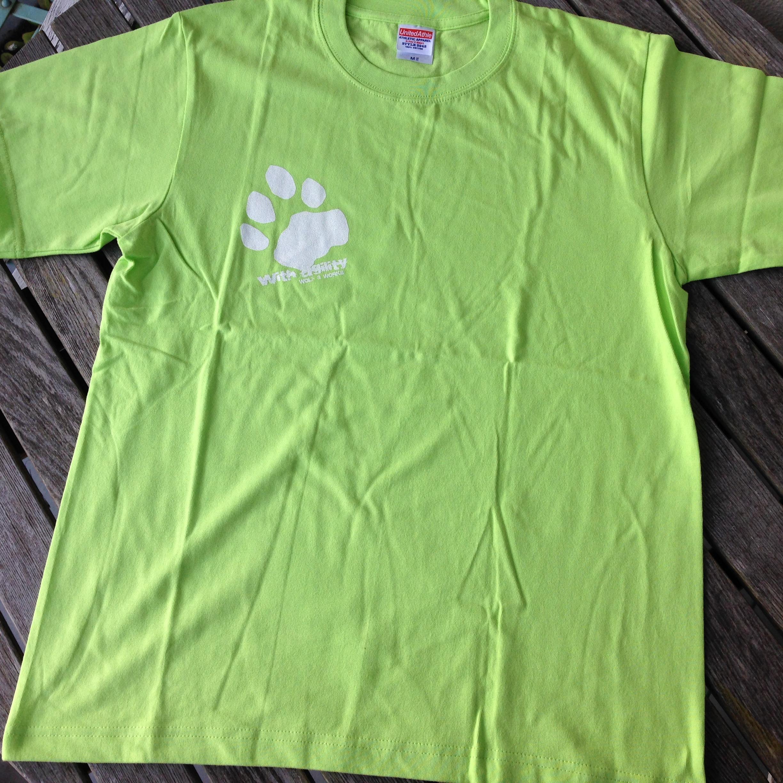 雪豹Tシャツ ライトグリーン