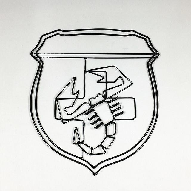 ABARTH emblema filo artigianale【1セットのみ】【税込価格】