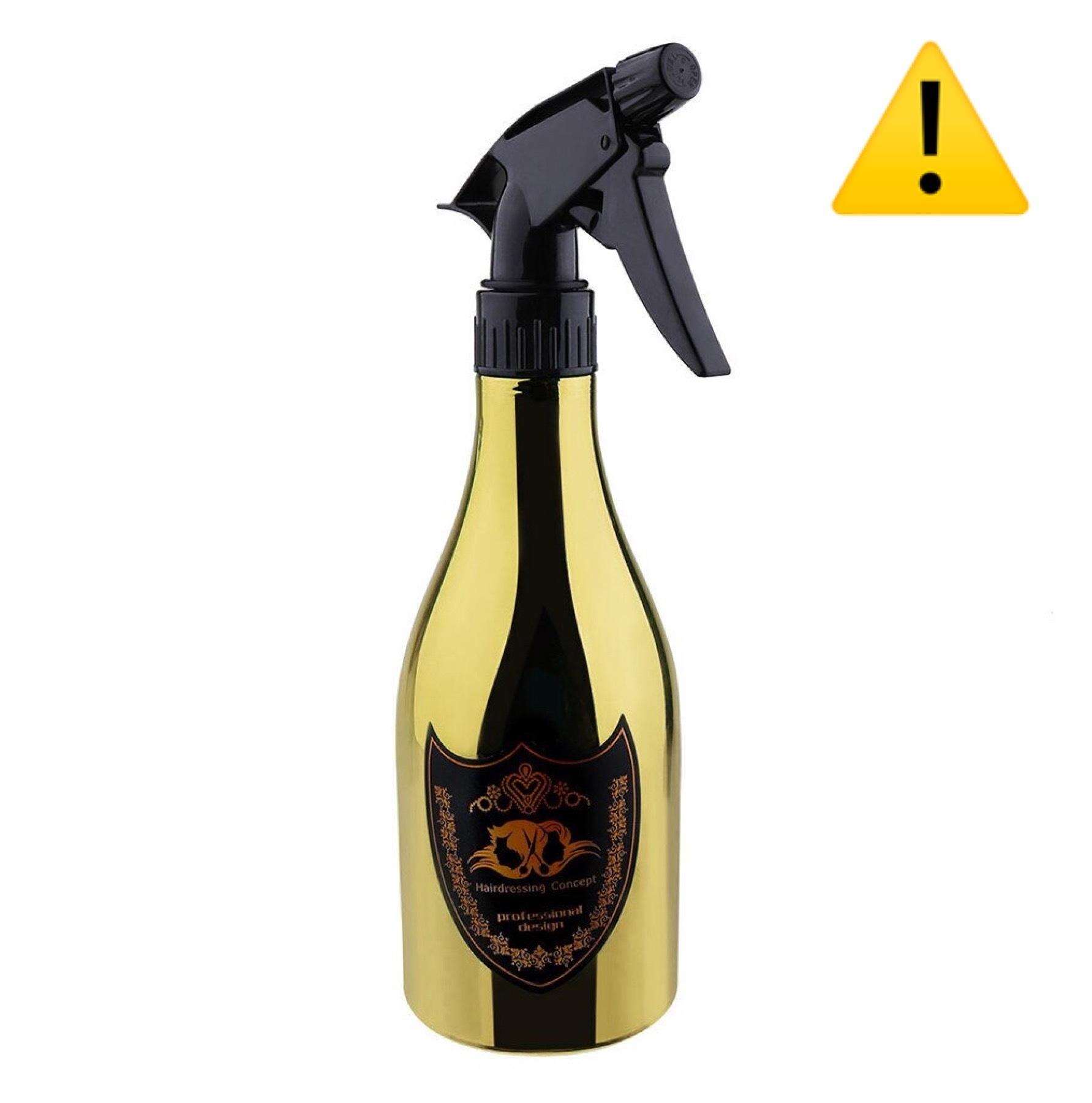 【訳アリ・アウトレット】シャンパンボトルデザイン 水スプレイヤー ゴールド