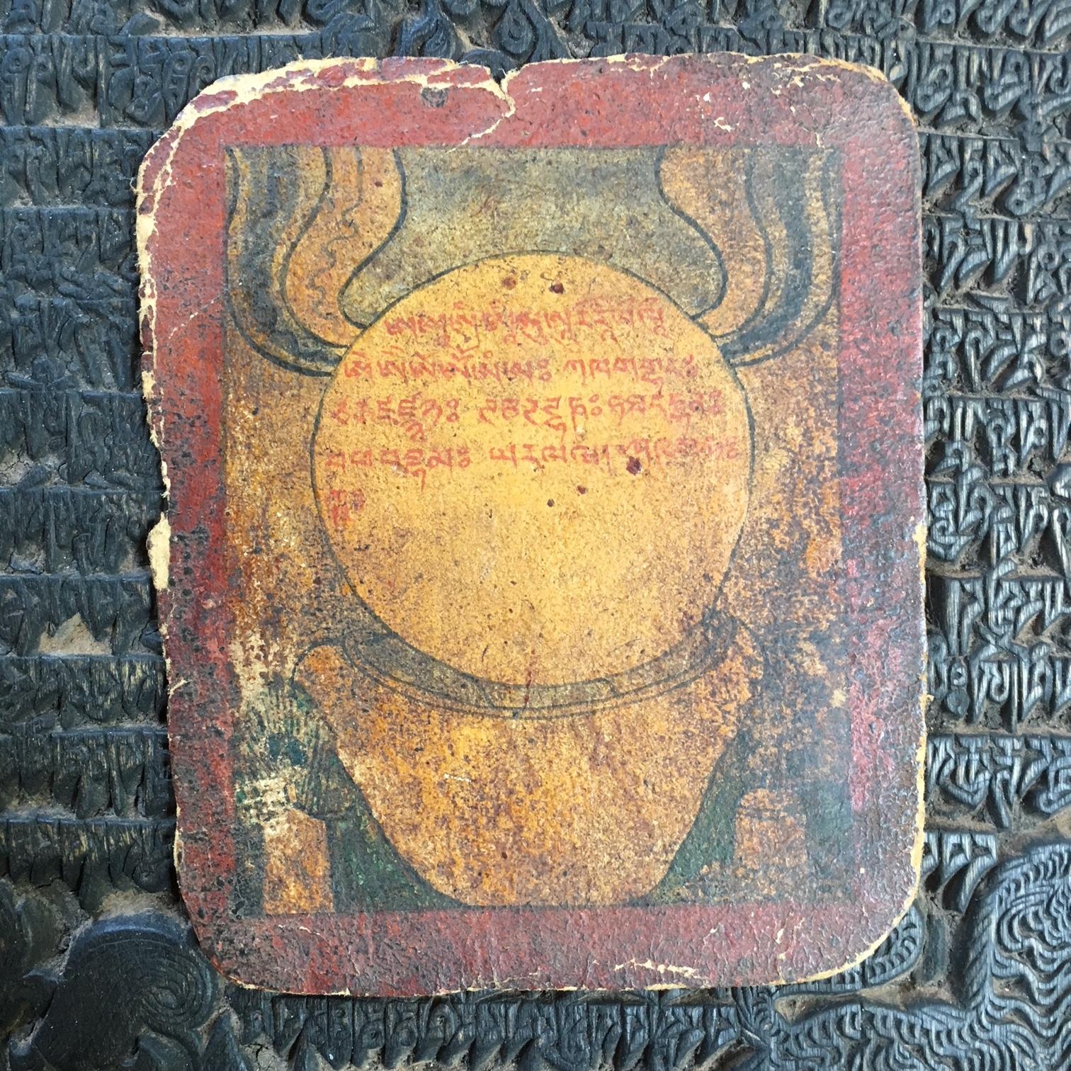 チベット仏教小型細密画ツァカリ 鏡図