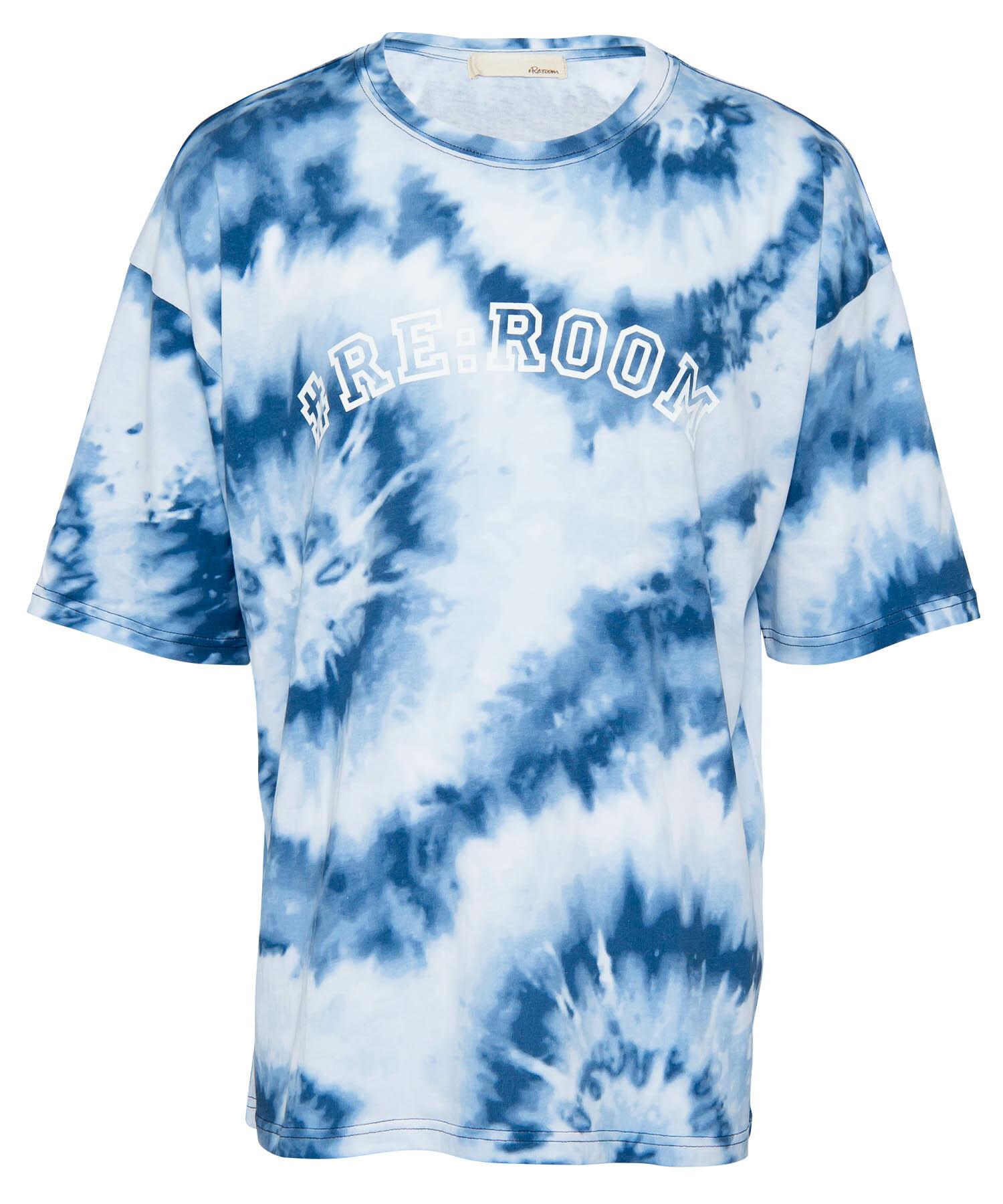TIE DYE PATTERN LOGO PRINT T-shirt[REC306]
