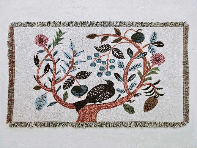松尾ミユキ Tapestry Blanket Birdtree
