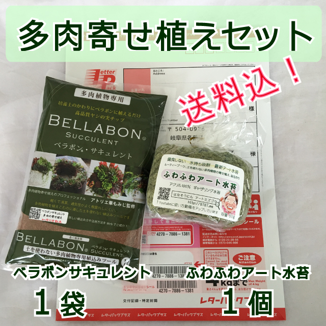 【送料込】ギャザリング水苔1個&ベラボンサキュレント1袋 セット - 画像1