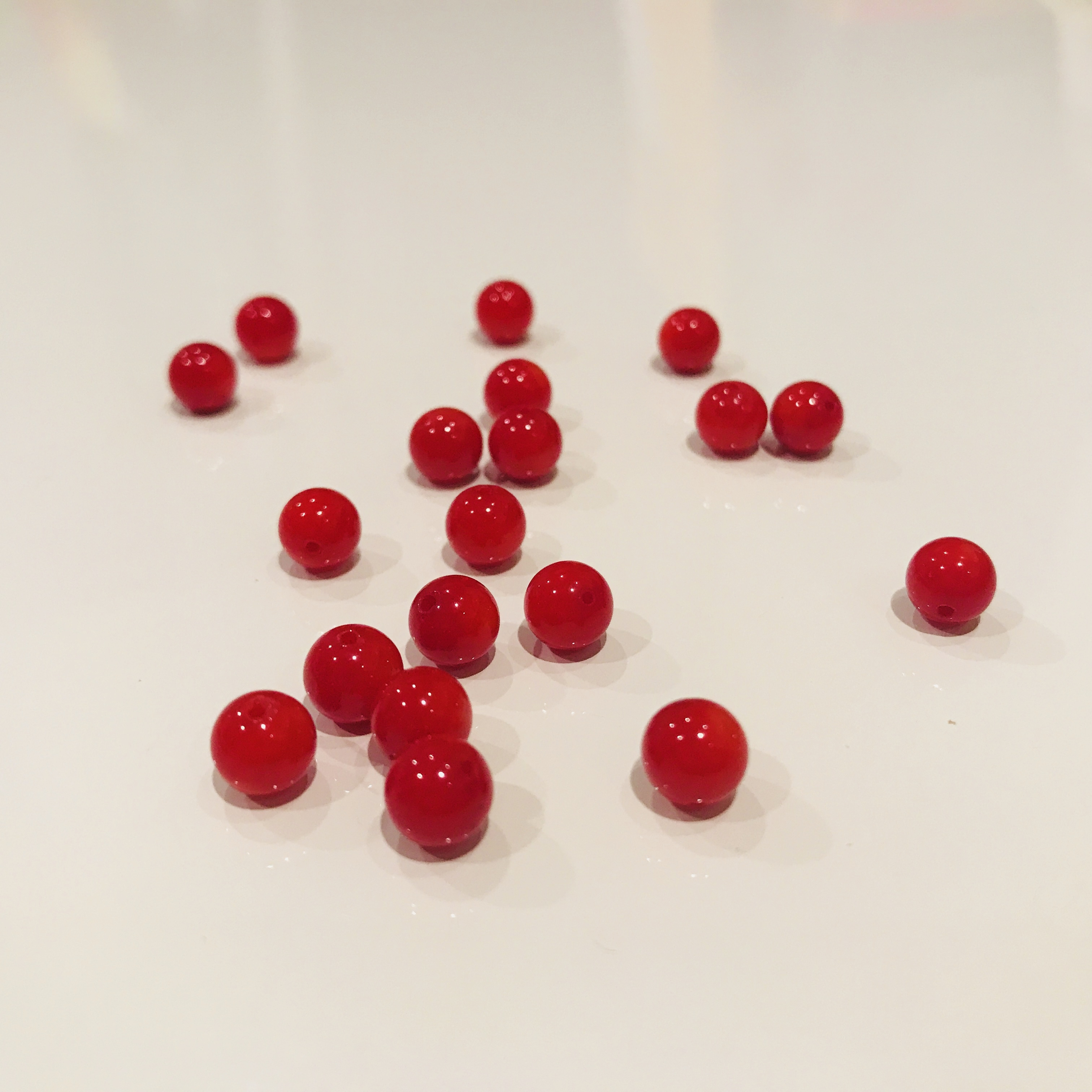 子宝の石|赤珊瑚 6mm玉