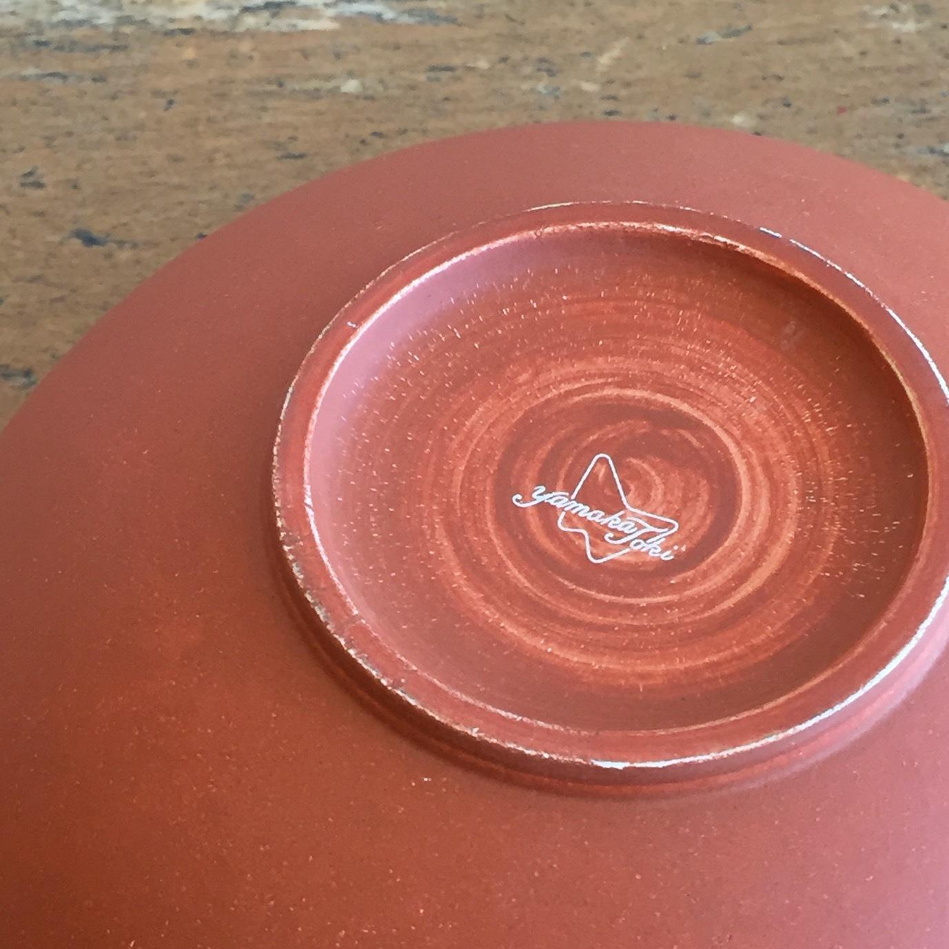 薔薇柄蓋付きお茶碗