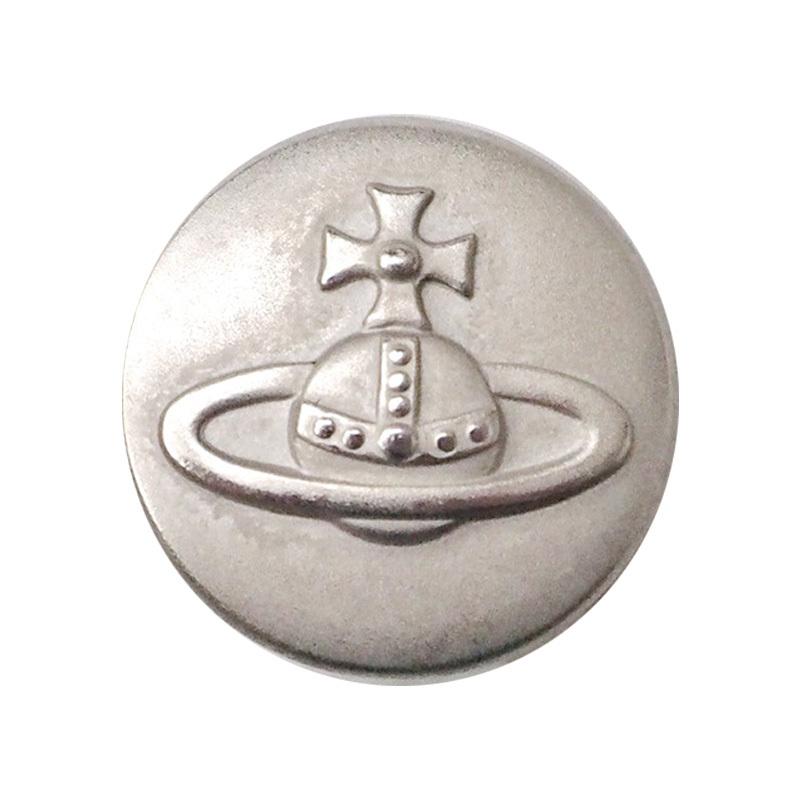 【VINTAGE Vivienne Westwood BUTTON】シルバー オーブ ロゴ ボタン(大)