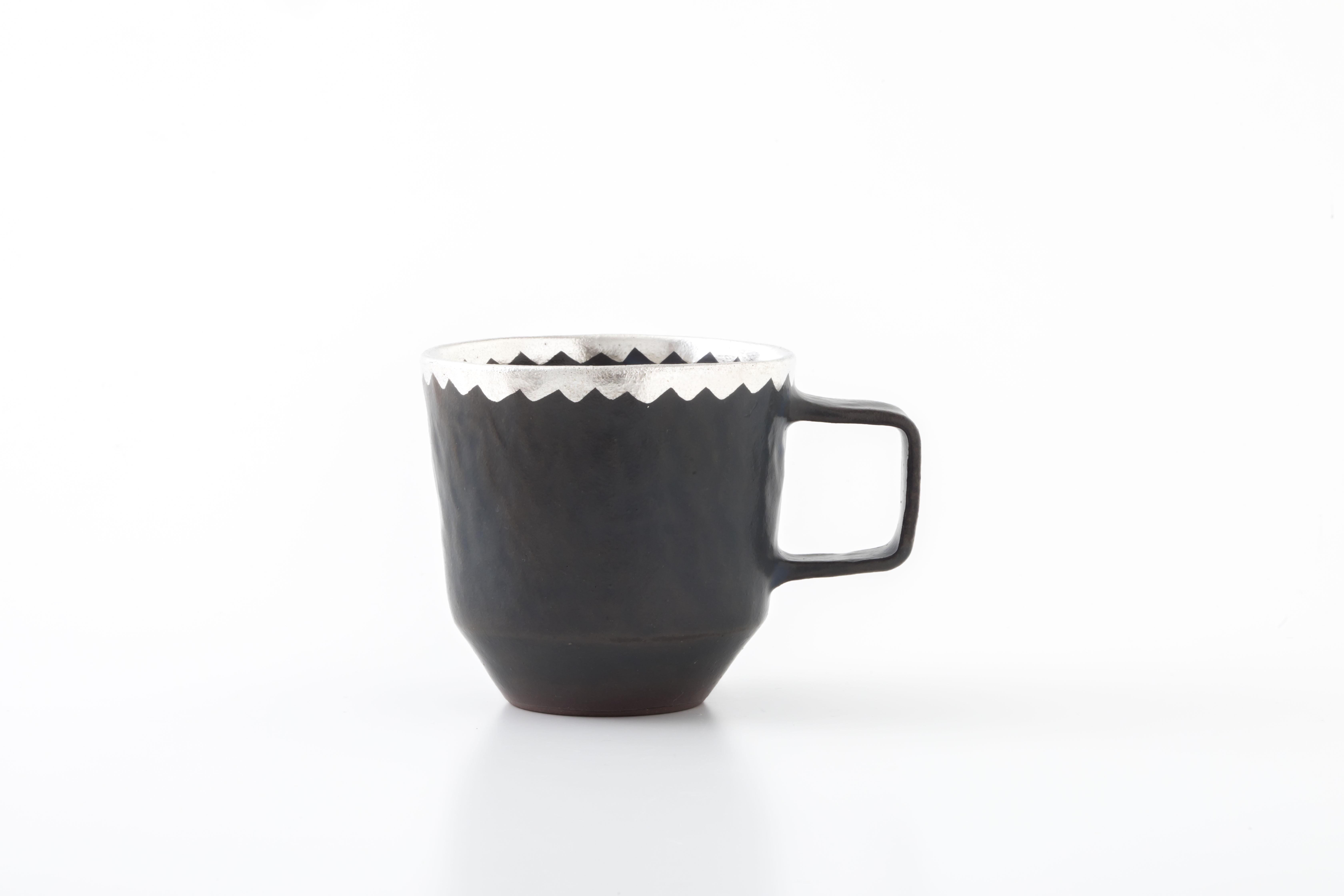 stacking mug:銀縁波(01-4) / holk store × 中囿義光