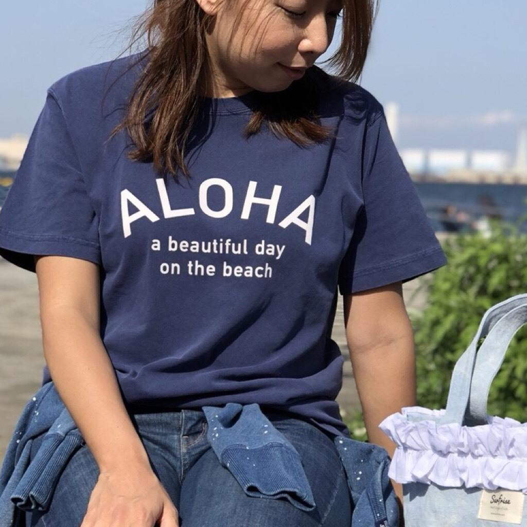 ALOHA Tee - Vintage navy