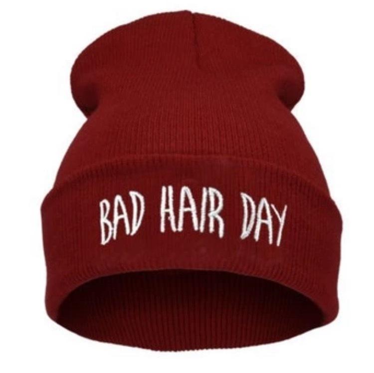 【即納☆送料無料】BADHAIRDAYニット帽/ブラック/グレー/ボルドー