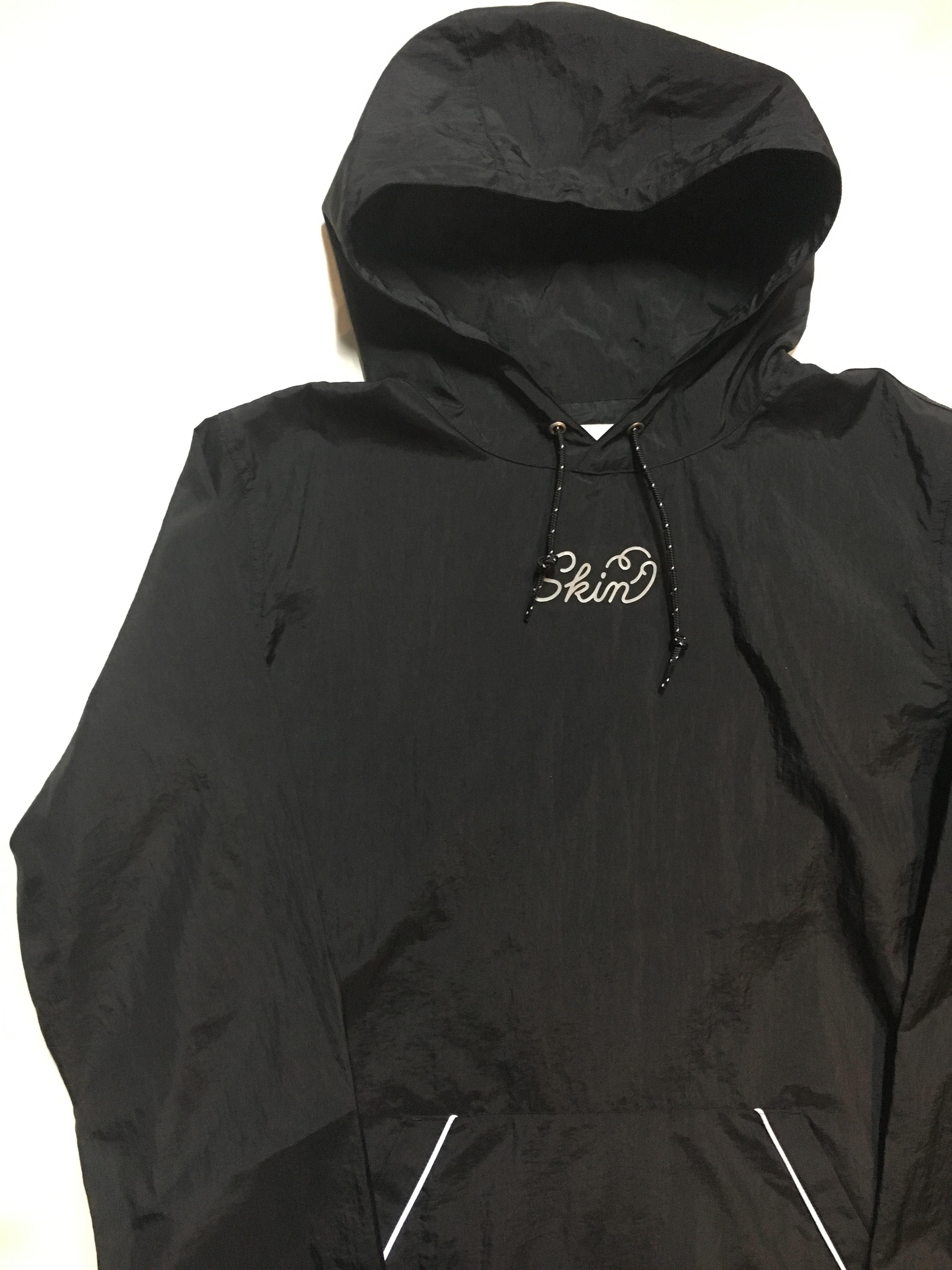 SKIN / nylon hoodie(blk) - 画像4